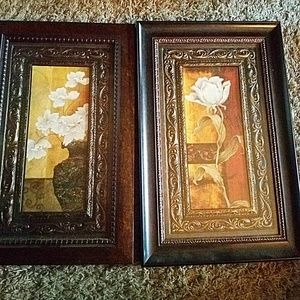 Set of 2 Floral Wall Accents